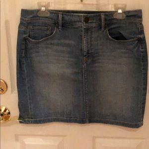 loft jean mini skirt